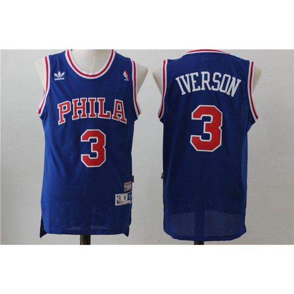 Other - Philadelphia 76ers Allen Iverson Blue Jersey (2)